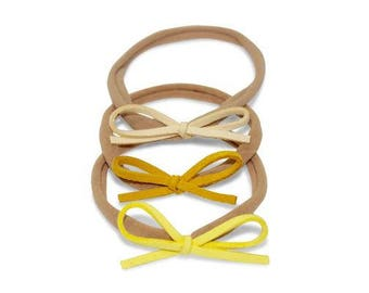 Dainty Bows - Shades of Yellow