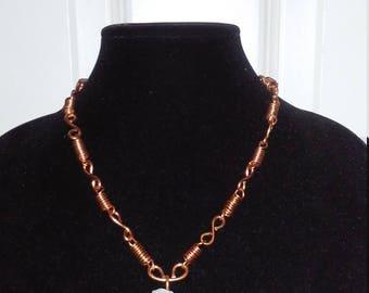 Clear Quartz Crystal copper Necklace