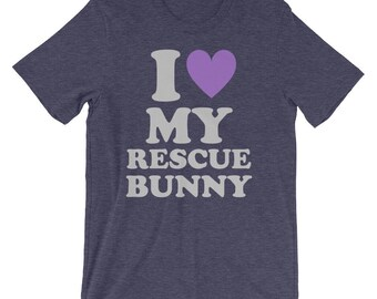 I Love My Rescue Bunny Tee