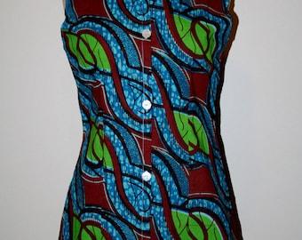 African wax print shirt