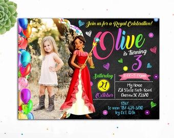 Customizable- Elena of Avalor Birthday Invitation, Princess Birthday Invitation, Birthday Invitations for Girls,Elena Invites,Digital
