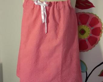 Pink eyelet tunic