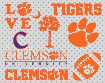 Clemson Tigers SVG, dxf, png, eps, Clemson cricut and silhouette cameo, louisiana svg, South Carolina svg, Clemson university svg, Sport svg