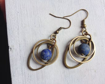 Earrings handcrafted 'planet '.