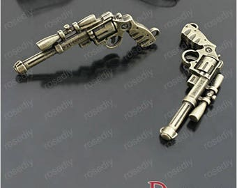 4 charms 56 * 30MM brass arms punch D27629