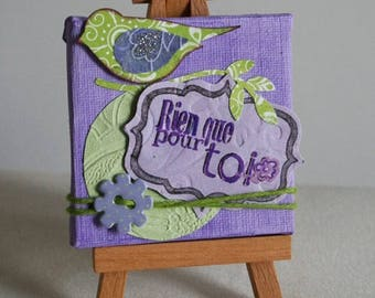Mini canvas and easel. Just for you.
