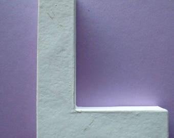 lettre L à peindre ou à décorer en bois de 12 cm de hauteur