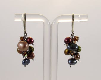 earring freshwater nugget pearl sterling