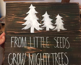 From Little Seeds Grow Mighty Trees-children bedroom decor