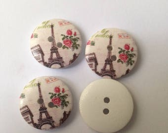 Buttons on the monument Paris theme
