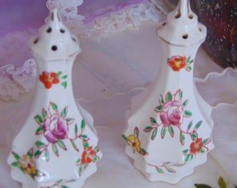 Vintage Made in Japan Ornate Salt and Pepper Shakers