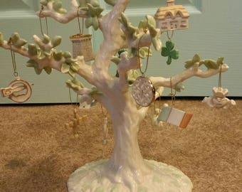 "Lenox ""Luck of the Irish"" Fine Ivory China Tree with 12 Ornaments and Certificate of Authenticity."
