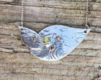 Silver Double Petal Pendant