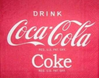 Drink Coca-Cola #AL014 NAPKIN