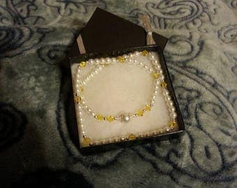 Yellow Swarovski Crystal Beaded Necklace