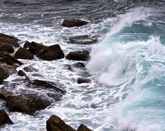 Waves Crashing. Bronte Beach. Sydney. Australia.
