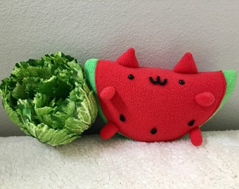 Cute WatermelonCat Plushie / Stuffed Animal