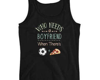 Soccer Tank Top - Soccer Gift - Soccer Tank - Pizza Tank Top - Pizza Lover - Funny Pizza Gift - Womens Ladies Tank Top
