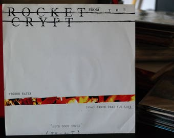 Rocket from the Crypt- Both Good Songs- 7 inch Record- Vinyl- Merge 035-with Sleeve and Inserts-1993- Alternative Rock- College Rock- Punk