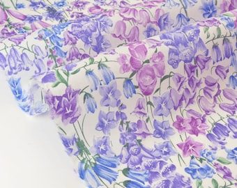 Liberty Tana Lawn Birkbeck-purple-83x137cm 20% off fabric