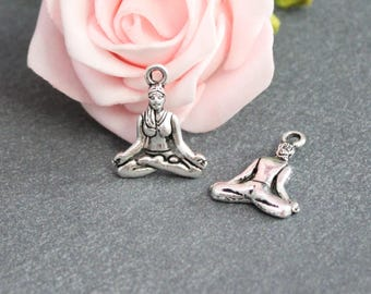 X 10 charms position yoga in antique silver BRA259 woman