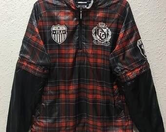 Rare Design!! Fila Windbreaker Jacket
