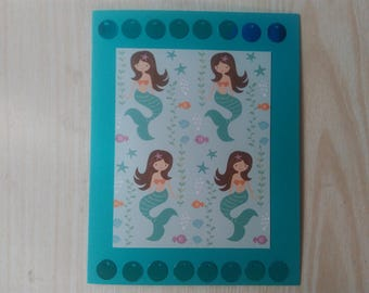 Map little turquoise Mermaid