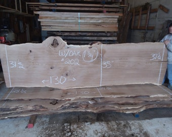 White Oak Live Edge Slab #202