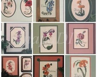 PDF 12 Cross-Stitch Flowers From My Garden