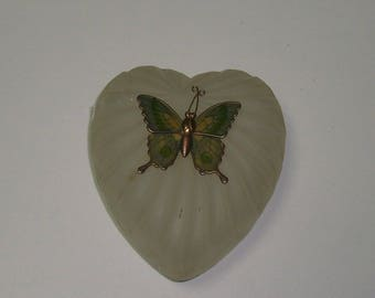 Glass With Butterfly Trinket Dish