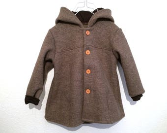 Walk coat wool coat made of virgin wool