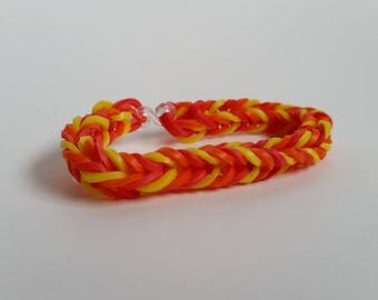Red, Orange and Yellow Loom Bracelet *Fire*