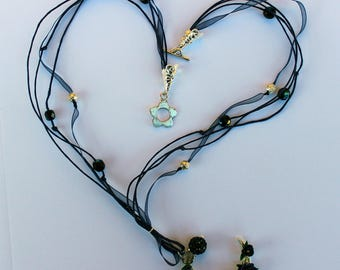 Blue Moon Necklace Roses ~ AstraLuna Bijoux
