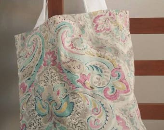Pretty paisley and blue tote