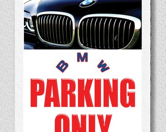 No Parking Wall Sign Etsy - Bmw parking only signs