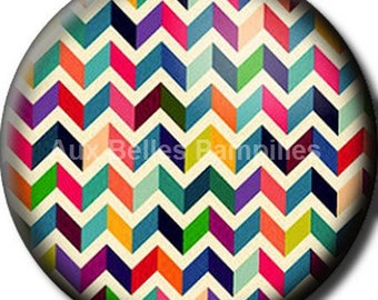 """Round cabochon resin 25 mm - """"Zig zag"""" stick (954) - text, Word, gift, gift."""