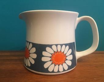 Vintage Figgjo Flint Turi Design Daisy Milk Jug