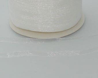 organza Ribbon 3 meter white 6mm - Ref: 1000 RO