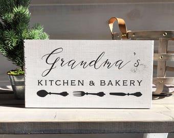 grandma gift-farmhouse-farmhouse sign-grandmother gift-mother gift-grandma-grandma's kitchen-wood sign-custom sign