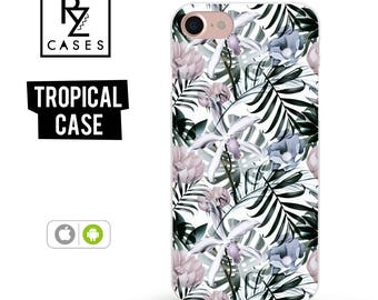 Tropical phone case, Tropical iPhone 7 Case, Palm Leaves, Tropical iPhone 6 Case, iPhone 7 Plus, iPhone 6 plus, Samsung Galaxy, Gift For Her