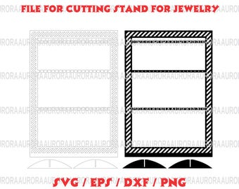 Vector Earring Holder Jewelry Displays SVG for Laser CNC File for cutting stand for jewelry, template stand for jewelry Vector Jewelry Stand