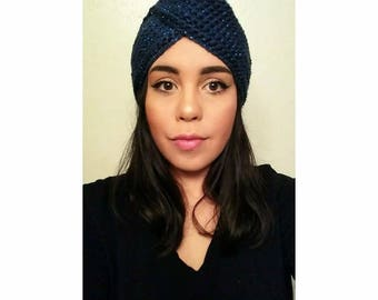 Crochet turban hat