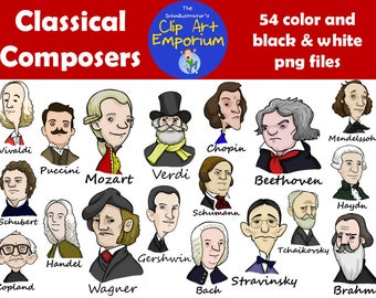 Classical Composers Clip Art