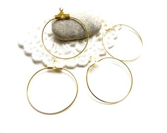 10 gold hoop earrings 28mm