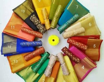 Tussar silk with blouse/tussar silk saree/Indian silk saree