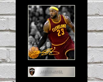 Lebron James 10x8 Mounted Signed Photo Print Cleveland Cavaliers