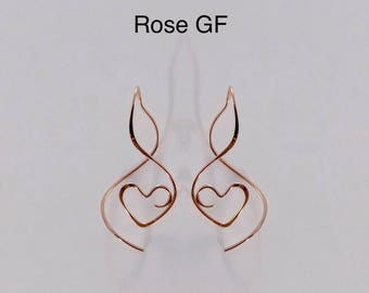 Earspiral Earrings VHGF 14k Gold-Filled. Also available in 14k Rose Gold-filled and Sterling Silver