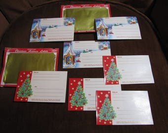 Vintage Set of 7 Christmas Address Mailing Labels - Dennison Designed circa 1950s Unused and in Outstanding Condition!