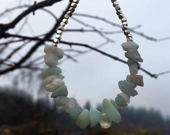 Opal, aquamarine and moonstone bracelet