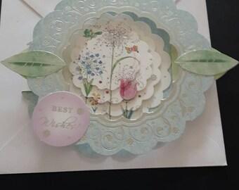 Floral birthday card